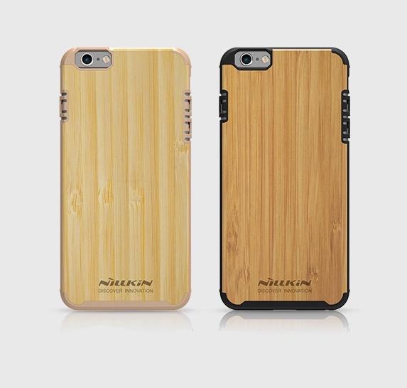 Drevený obal NILLKIN + vnútorná guma pre iPhone 6 Plus : 6S Plus5