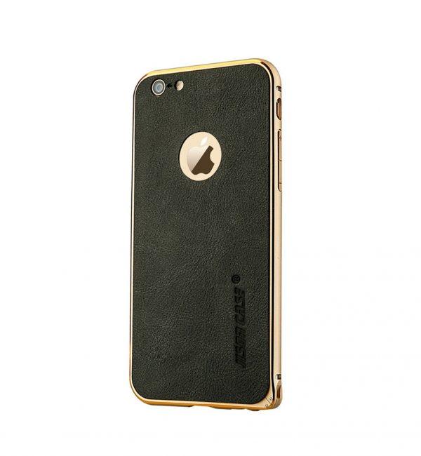 Hliníkový bumer s koženou zadnou fóliou JISONCASE pre iPhone 6 : 6S2