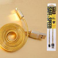 Nabíjací Lightning kábel, 100cm, zlatá farba na iPhone alebo iPad2