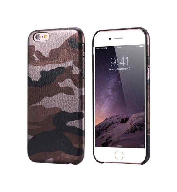 Ochranný kryt na iPhone 7 Plus maskáčový v hnedej farbe