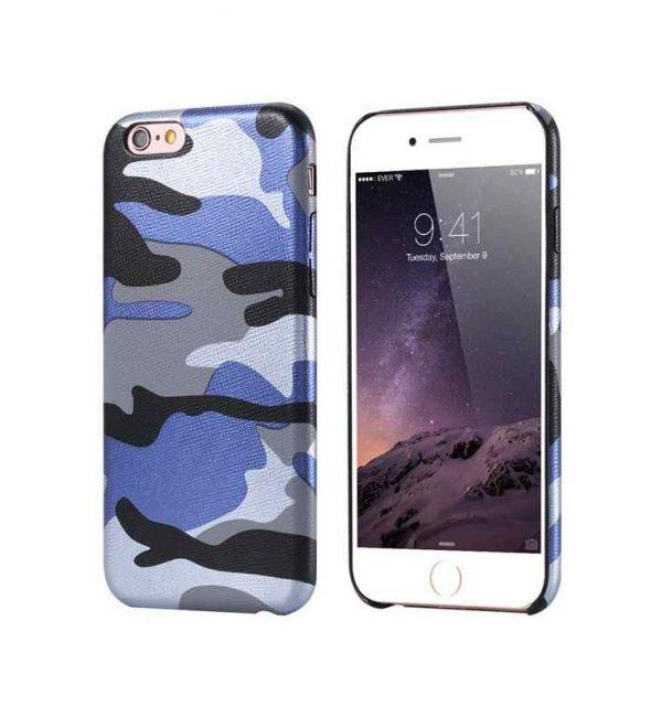 Ochranný kryt na iPhone 7 Plus maskáčový v modrej farbe