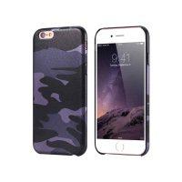 Ochranný kryt na iPhone 7 maskáčový vo fialovej farbe
