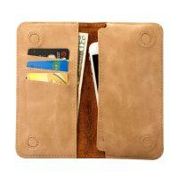 Peňaženkové púzdro JISONCASE pre iPhone 6 : 6S : 6 Plus : 6S Plus z pravej kože, bežová farba2