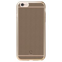 Plastový laserom gravírovaný obal BASEUS pre iPhone 6 : 6S v zlatej farbe1