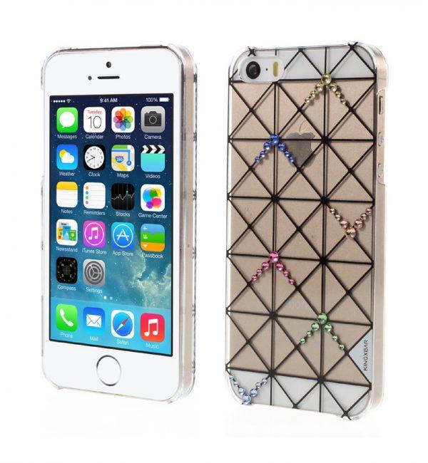 Plastový obal s kryštálmi KINGXBAR pre iPhone 5:5S:SE, Transparent