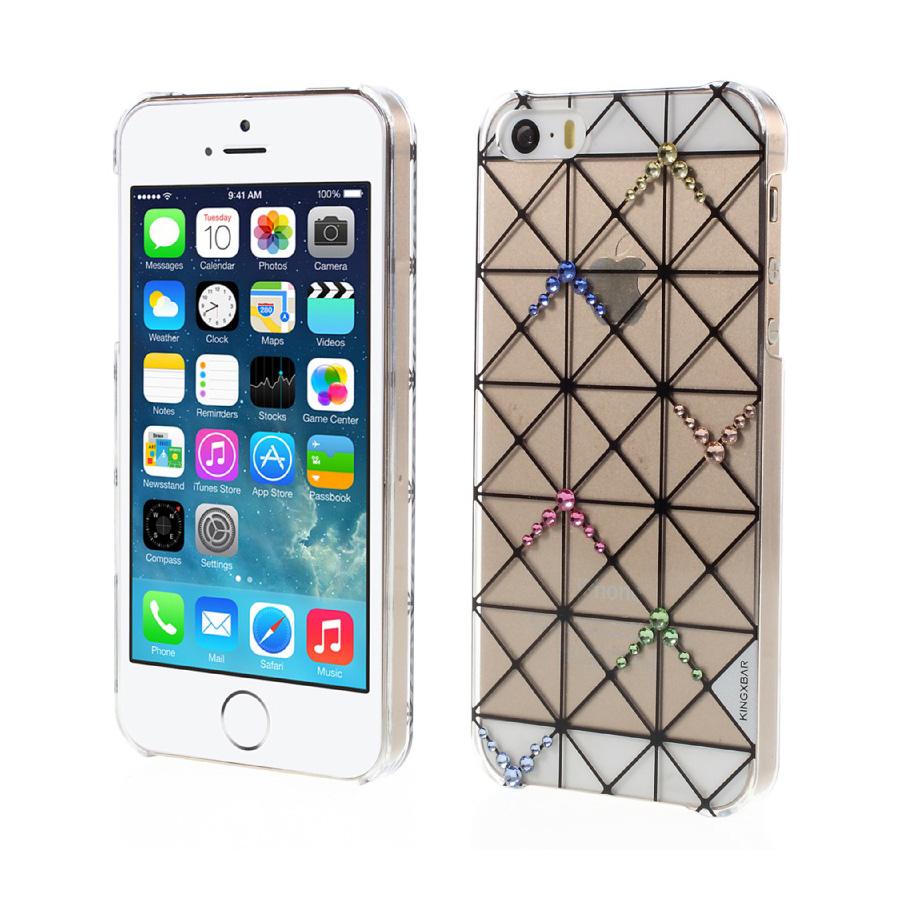 Plastový obal s kryštálmi KINGXBAR pre iPhone 5 5S SE bf35d0ff3ae