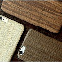 Silikónový obal s textúrou plátkom dreva ROCK pre iPhone 6 Plus : 6S Plus1