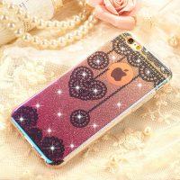 Silikónový trblietavý obal XINCUCO pre iPhone 6 Plus : 6S Plus, ružový1