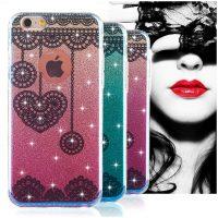 Silikónový trblietavý obal XINCUCO pre iPhone 6 Plus : 6S Plus, ružový2