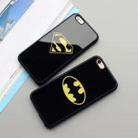 Silikónový zrkadlový obal Batman a Superman pre iPhone 6 : 6S5