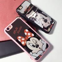 Silikónový zrkadlový obal Mickey a Minnie1