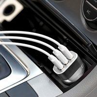 Univerzálny USB nabíjací adaptér do auta, 3 porty2