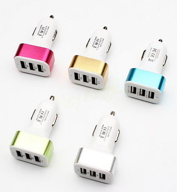 Univerzálny USB nabíjací adaptér do auta, 3 porty3