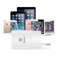 Adaptér BASEUS na mobilné telefóny v bielej farbe (7)
