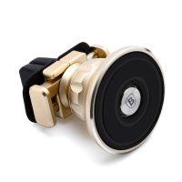 Aromatizujúci 360 stupňový magnetický držiak do ventilátora auta s vôňou BASEUS, zlatá farba (2)