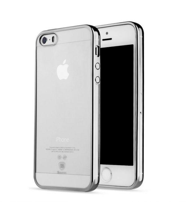 Dekoračný kryt BASEUS na iPhone 55SSE v chromovej farbe (1)