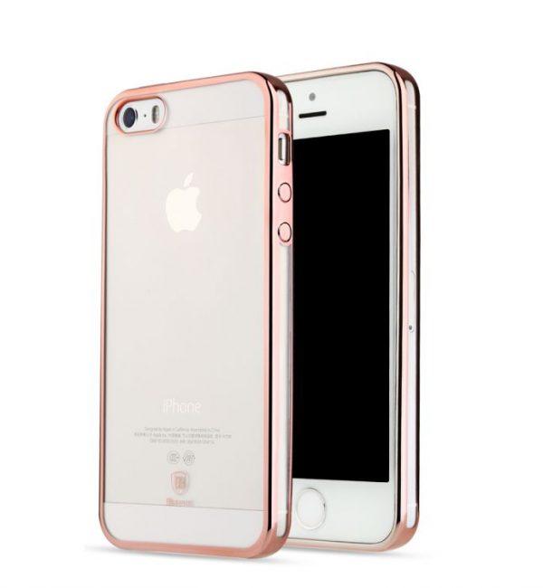 Dekoračný kryt BASEUS na iPhone 55SSE v ružovej farbe (2)