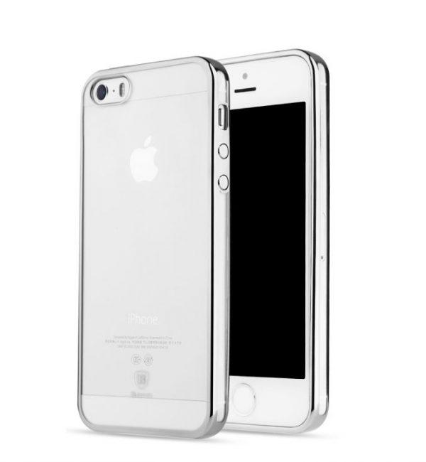 Dekoračný kryt BASEUS na iPhone 55SSE v striebornej farbe. (1)