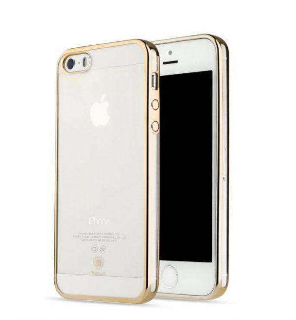 Dekoračný kryt BASEUS na iPhone 55SSE v zlatej farbe (2)