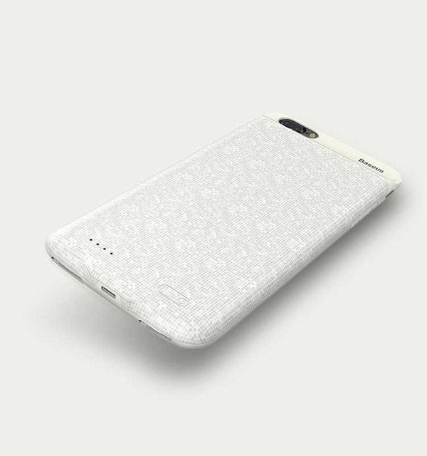 Dobíjací obal BASEUS na iPhone 7 Plus a iPhone 8 Plus v bielej farbe, 3650 mAh