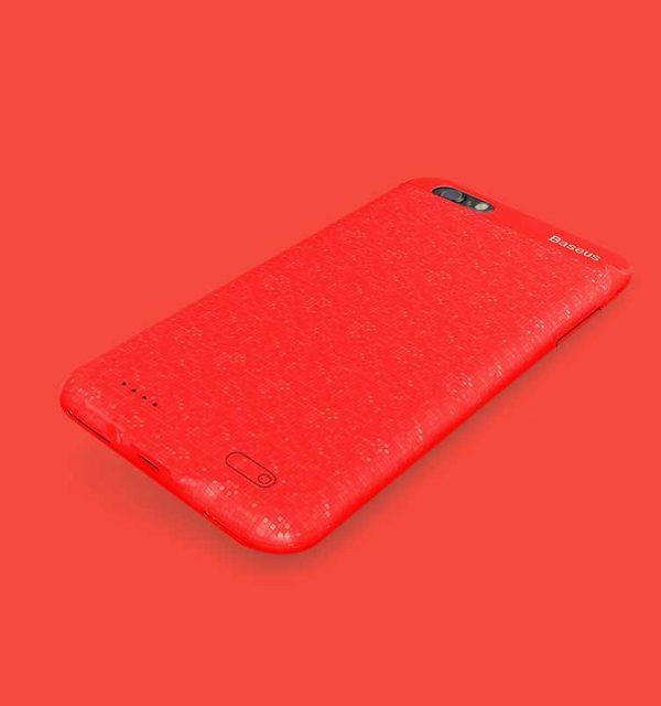 Dobíjací obal BASEUS na iPhone 7 a iPhone 8, v červenej farbe, 2500 mAh