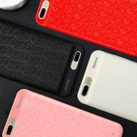 Dobíjací obal BASEUS na iPhone 7 a iPhone 8, v červenej farbe, 2500 mAh.