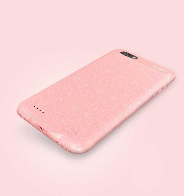 Dobíjací obal BASEUS na iPhone 7 a iPhone 8, v ružovej farbe, 2500 mAh