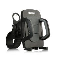 Držiak na bicykel a motorku pre mobilné telefóny BASEUS, čierna farba (2)
