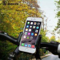 Držiak na bicykel a motorku pre mobilné telefóny BASEUS, čierna farba (3)