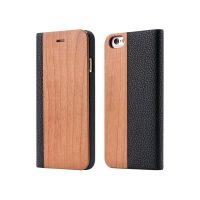 Knižkové drevené púzdro na iPhone 7 Plus zo svetlého dreva (1)