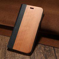 Knižkové drevené púzdro na iPhone 7 Plus zo svetlého dreva (2)