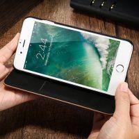 Knižkové drevené púzdro na iPhone 7 Plus zo svetlého dreva (4)