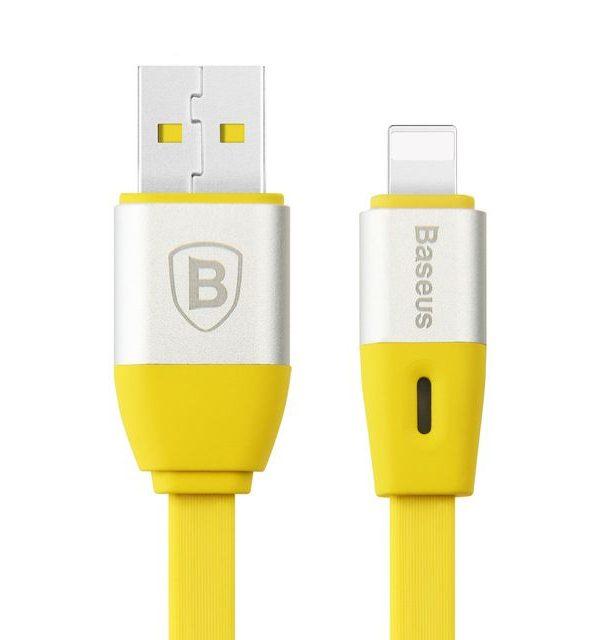 Lightning inteligentný nabíjací kábel BASEUS, 100cm, žltá farba