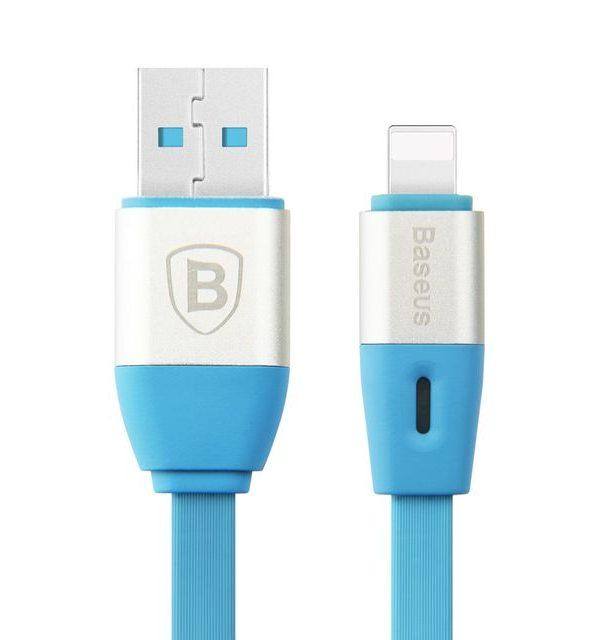 Lightning inteligentný nabíjací kábel BASEUS, 100cm, modrá farba