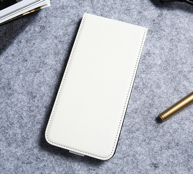 Luxusné púzdro zo syntetickej kože pre iPhone 7 Plus v bielej farbe (1) 23e98f99e5c