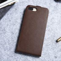 Luxusné púzdro zo syntetickej kože pre iPhone 7 Plus v hnedej farbe (1)
