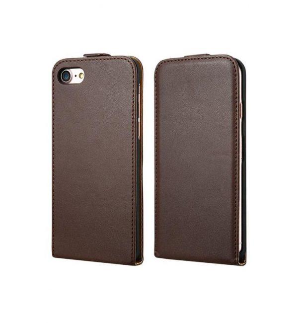 Luxusné púzdro zo syntetickej kože pre iPhone 7 Plus v hnedej farbe (2)