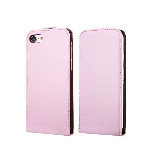 Luxusné púzdro zo syntetickej kože pre iPhone 7 Plus v ružovej farbe (2)