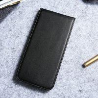 Luxusné púzdro zo syntetickej kože pre iPhone 7 v čiernej farbe (1)