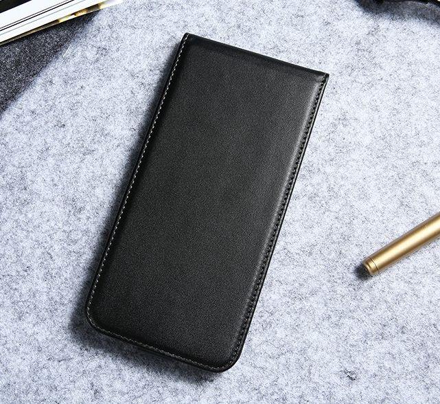 Luxusné púzdro zo syntetickej kože pre iPhone 7 Plus v čiernej farbe ... ba94da5471f
