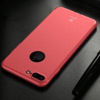 Silikónový tenký kryt BASEUS na iPhone 7 v červenej farbe (1)