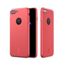 Silikónový tenký kryt BASEUS na iPhone 7 v červenej farbe (2)
