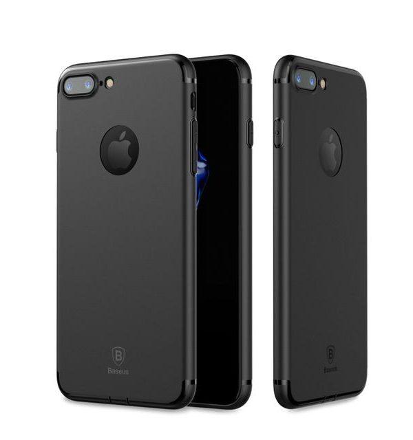 Silikónový tenký kryt BASEUS na iPhone 7 v čiernej farbe