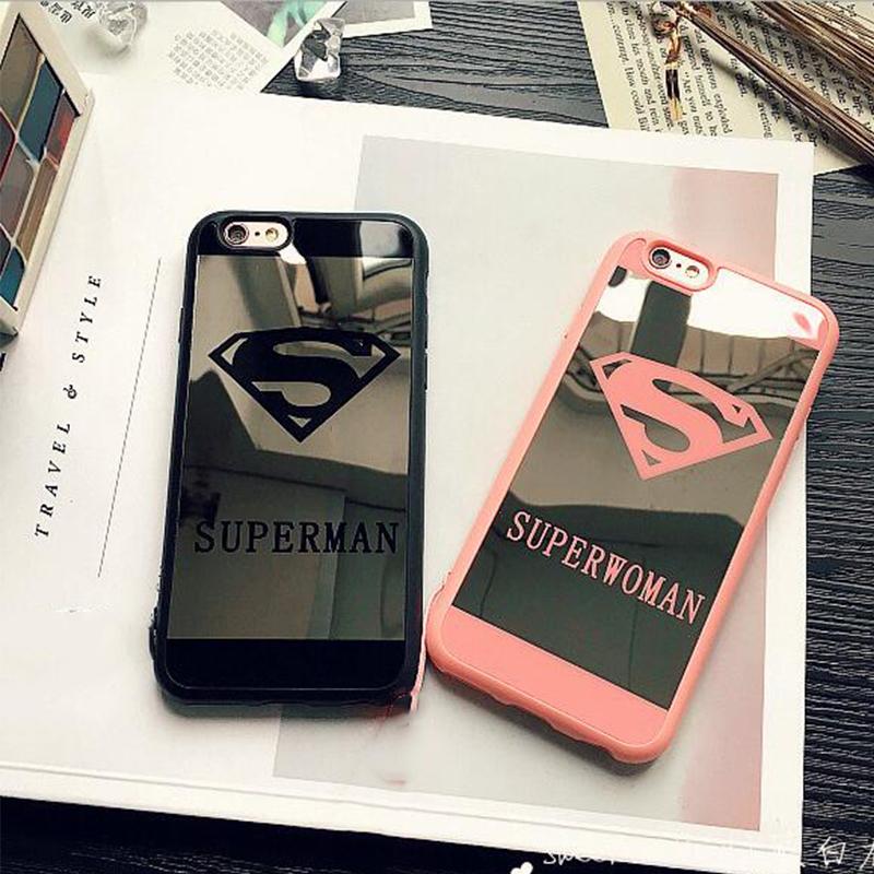 Silikónový zrkadlový obal Superman a Superwoman pre iPhone 7 - Obaly ... f00a97f6094