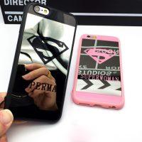 Silikónový zrkadlový obal Superman a Superwoman pre iPhone 7 (4)