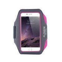Športové púzdro na behanie FLOVEME na iPhone 6, 6S, 7, ružová farba
