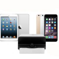 Dokovacia stanica a stojan pre iPhone a iPad. Dokovacia stanica disponuje stojanom na iPhone (1)