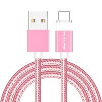 Magnetický nabíjací lightning kábel VOXLINK pre iPhone a iPad v ružovej farbe