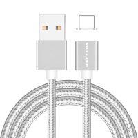 Magnetický nabíjací lightning kábel VOXLINK pre iPhone a iPad v stiebornej farbe