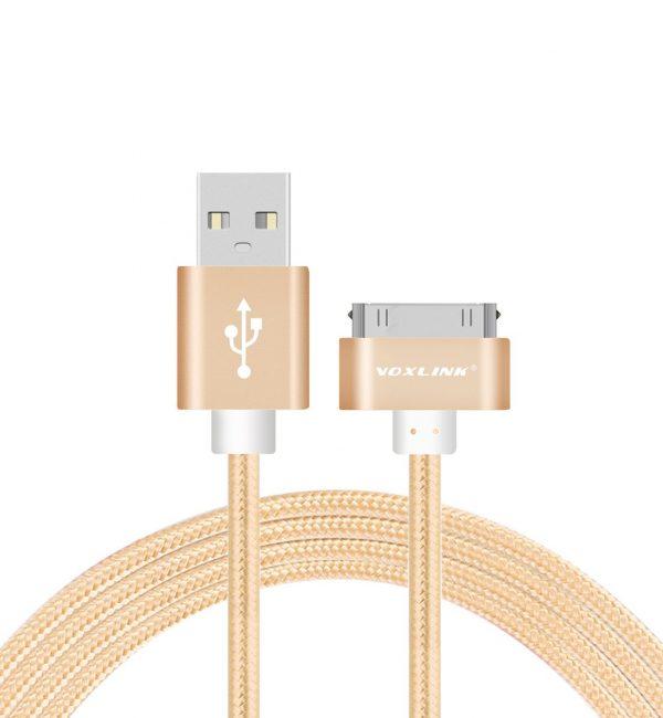 Nabíjací 30-Pinový kábel VOXLINK, 50cm, zlatá farba (2)